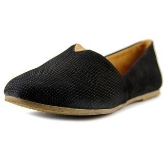 Tkees Senny Women Round Toe Leather Black Loafer