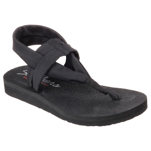 Skechers 38615 BLK Women's MEDITATION-STUDIO KICKS Sandals