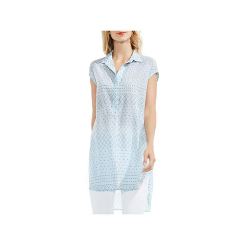 Vince Camuto Womens Delicate Dabs Tunic Top Lightweight Blouse