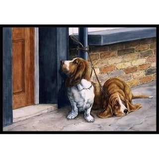 Carolines Treasures BDBA0016MAT Bassets Basset Hound Indoor or Outdoor Mat 18 x 27