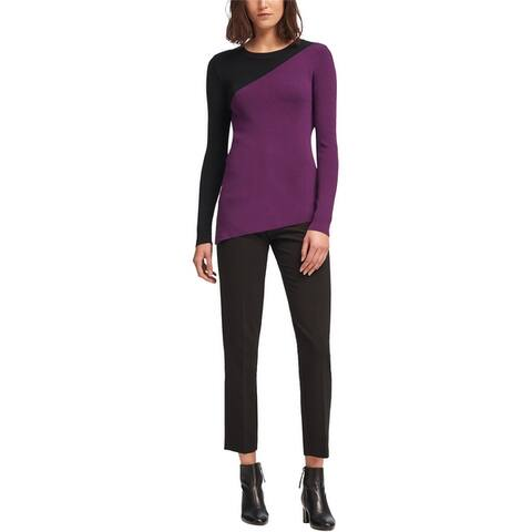 Dkny Womens Asymmetrical Pullover Sweater