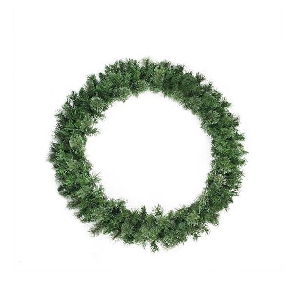 "48"" Mixed Cashmere Pine Artificial Christmas Wreath - Unlit - green"
