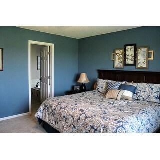 Madison Park Lira Blue Comforter 7 Piece Set
