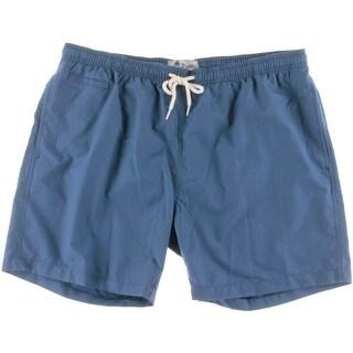 Trunks Mens Drawstring Pocket Swim Trunks