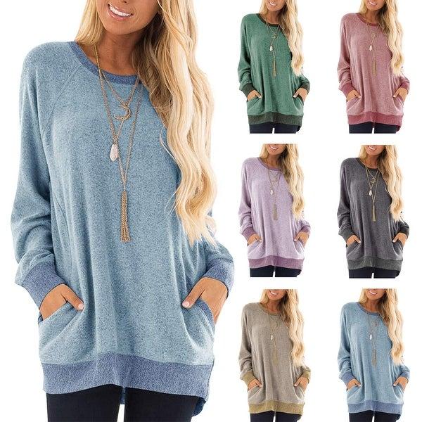 Women's long sleeve Pullover Ultra Soft Sweatshirt. Opens flyout.