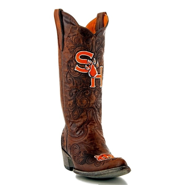 Gameday Boots Women College Sam Houston State Bearkat Brass