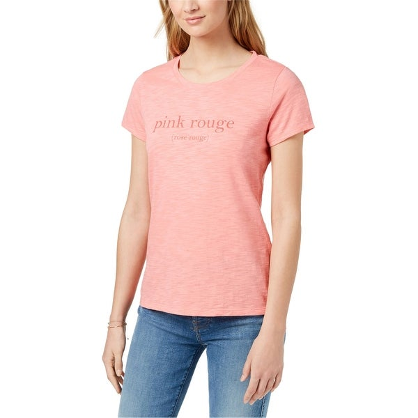 Maison Jules Womens Pink Rouge Graphic T-Shirt. Opens flyout.