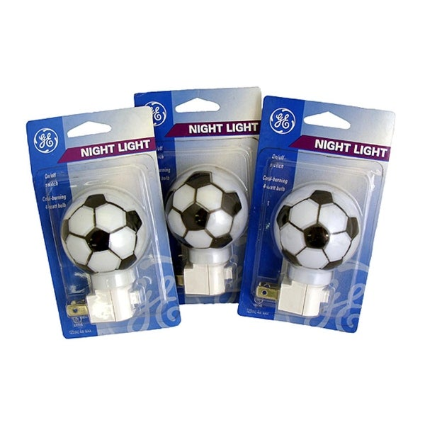 Pack of 3 GE Soccer Ball Sports Decorative Night Lights - White