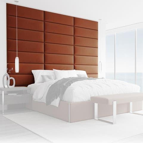 VANT Upholstered Headboards - Rust - 30 Inch - Set of 4 panels