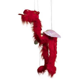 Sunny Toys WB934C 38 In. Large Marionette Dragon Wings - Red