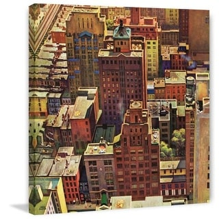 Marmont Hill Birds Eye View of New York City John Falter Painting Print on Canvas