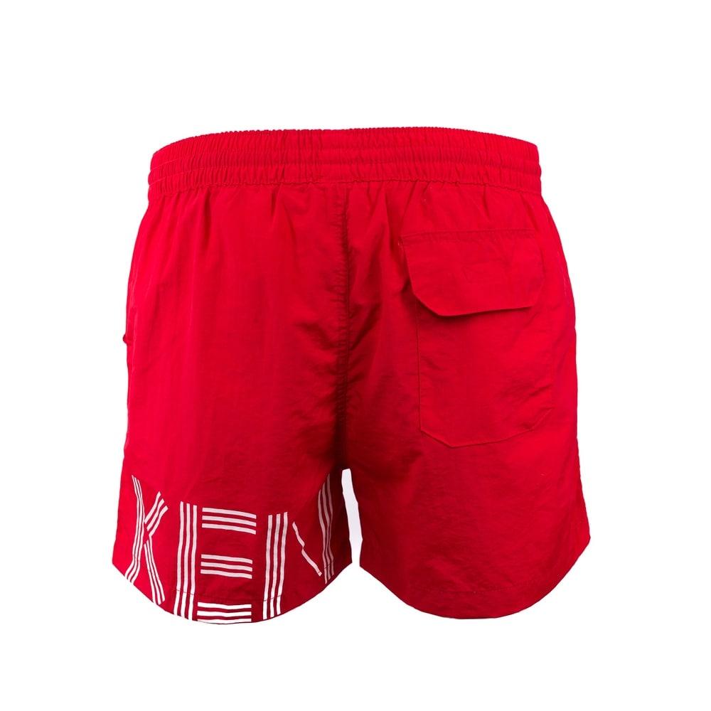 59cb942aeb Shop Kenzo Mens Red Bathing Suit Swim Shorts Trunks - S - Free ...