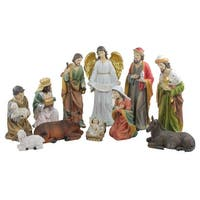"11-Pc. Traditional Religious Christmas Nativity Set with Removable Baby Jesus 19.5"" - multi"