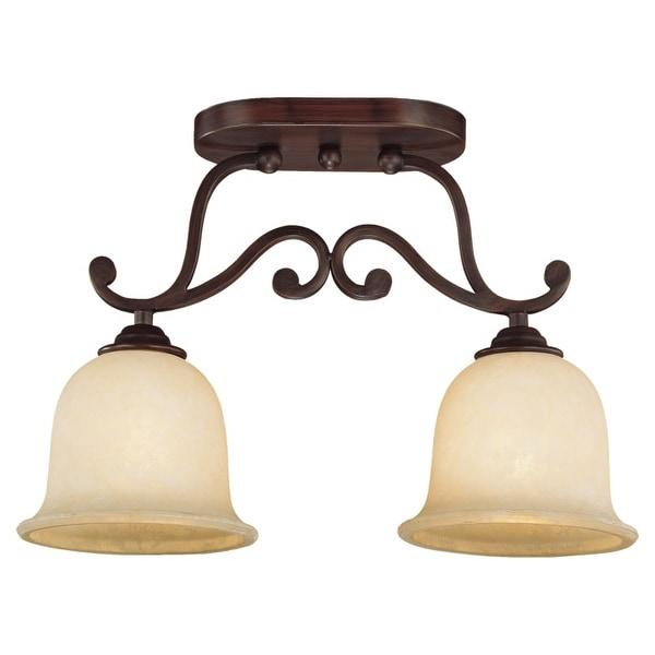 Millennium Lighting 1042 Courtney Lakes 2 Light Semi-Flush Ceiling Fixture