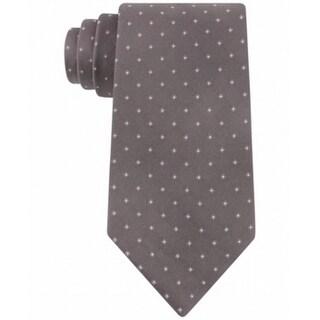 Calvin Klein NEW Gray Mens One Size Silk Reflection Square Neck Tie