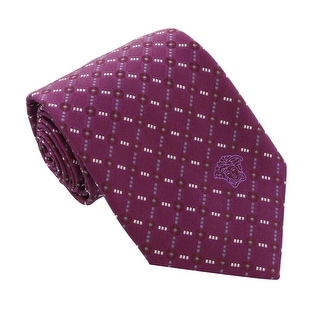 Versace Violet Woven Grid Chain Tie