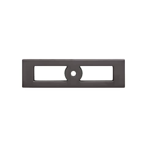 """Top Knobs TK922 Hollin 3-3/4"""" Center to Center Backplate for Cabinet Knobs from the Lynwood Series"""