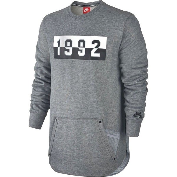 ba9c905bd319 Shop Nike NEW Heather Gray Mens Size 2XL Air Crewneck 1992 Pullover Sweater  - Free Shipping On Orders Over  45 - Overstock - 19663273