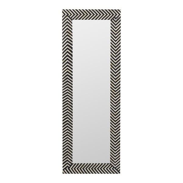 Aurelle Home Modern Bone Inlay Chevron Pattern Mirror. Opens flyout.