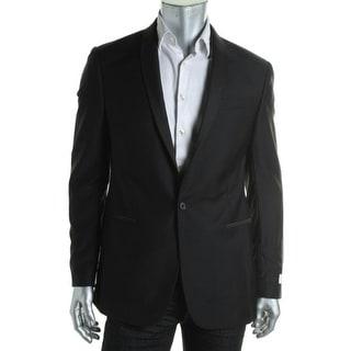 Ryan Seacrest Mens Wool Slim Fit Tuxedo Jacket