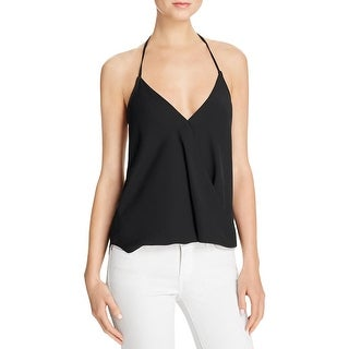 Olivaceous Womens Crop Top Crepe Surplice Neck (More options available)