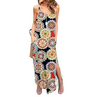 Link to Women's Sleeveless V-Neck Printed Casual Dress Similar Items in Dresses