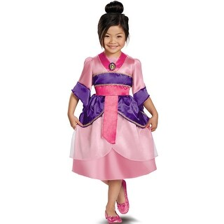 Disguise Disney Princess Mulan Sparkle Classic Child Costume - Pink