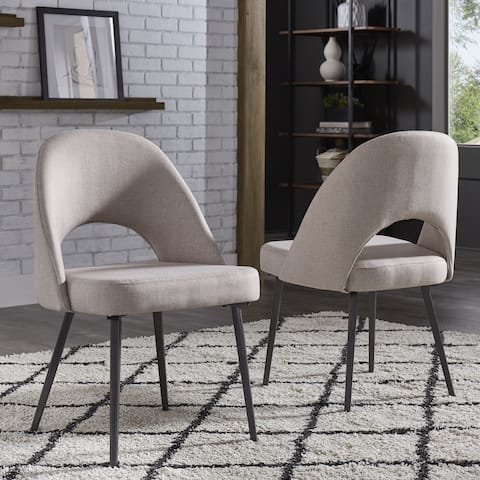 Presley Black Finish Fabric Dining Chairs (Set of 2) by iNSPIRE Q Modern