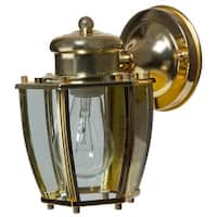 Boston Harbor HV-66961-PB Single Light Wall Lantern, Polished Brass