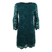 Jessica Howard Women's Bell-Sleeve Lace Dress - Navy/Green