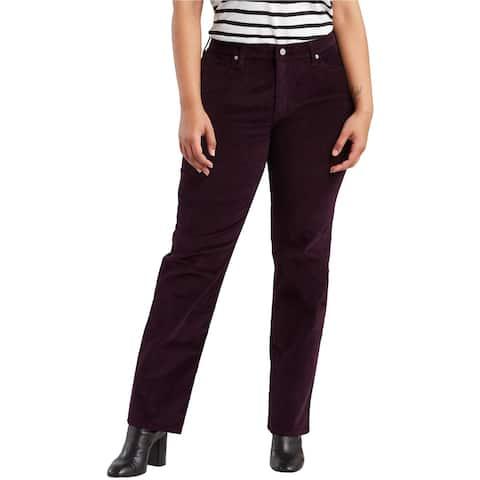 Levi's Womens 414 Classic Straight Leg Jeans, Purple, 24W