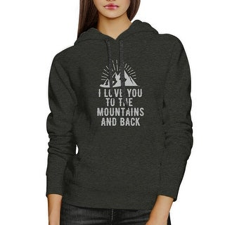 Mountain And Back Unisex Dark Gray Pullover Hoodie Funny Design