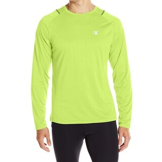 Champion NEW Neon Yellow Mens Size Large L Performance Athletic Top