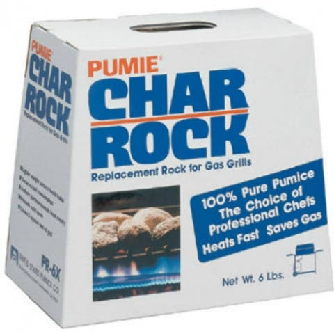 Pumie PR-6 100% Pure Natural Pumice Char Rock for Gas & Electric Grills