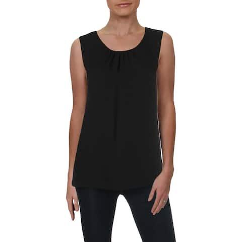 Anne Klein Womens Tank Top Sleeveless Shirred
