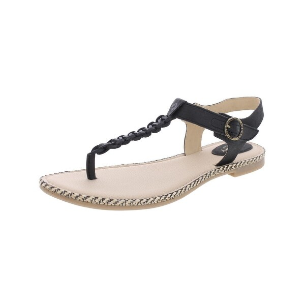 Sperry Womens Anchor Away Flat Sandals Leather T-Strap