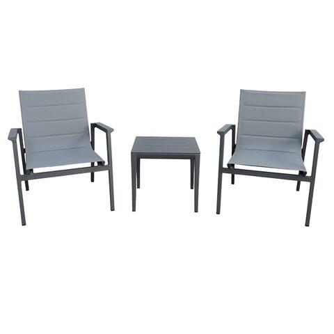 Modern Muse Aluminum Modern Sofa Furniture 3 pcs Set