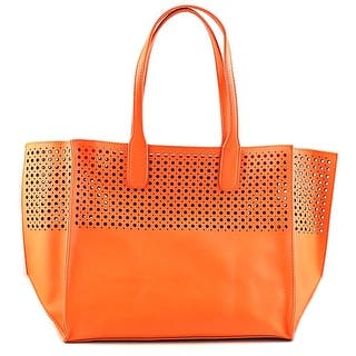 Emilie M. La Mar Perforated Tote Women Leather Tote - Orange|https://ak1.ostkcdn.com/images/products/is/images/direct/ec74c3b785ebe26f71ebb5f6f0457e7313eceb4c/Emilie-M.-La-Mar-Perforated-Tote-Women-Leather-Orange-Tote.jpg?impolicy=medium