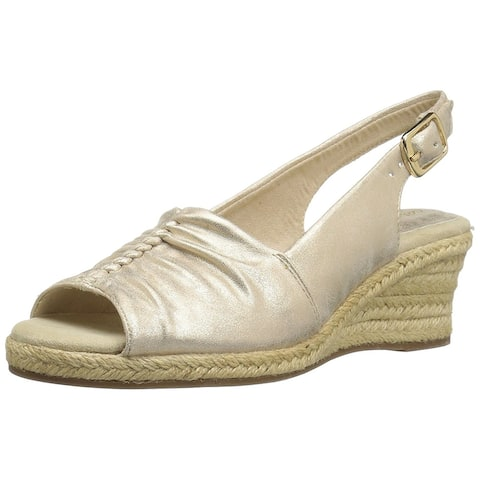 Easy Street Womens Kindly Peep Toe Special Occasion Espadrille Sandals