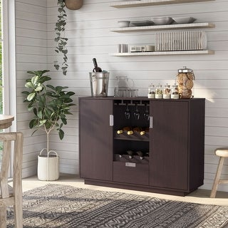 Link to Furniture of America Vika Contemporary Espresso Dining Buffet Similar Items in Dining Room & Bar Furniture