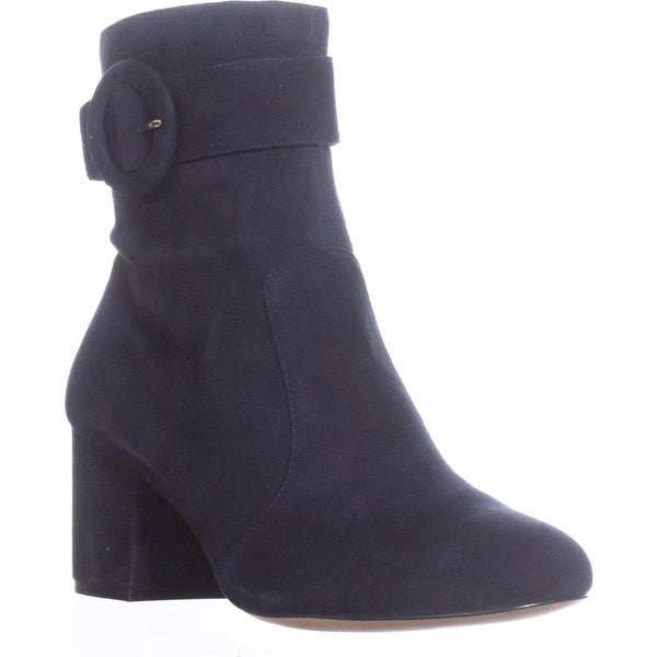 Nine West Quilby Buckle Ankle Boots, Navy