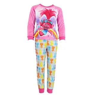 DreamWorks Girl's Plush Trolls Pajama Set