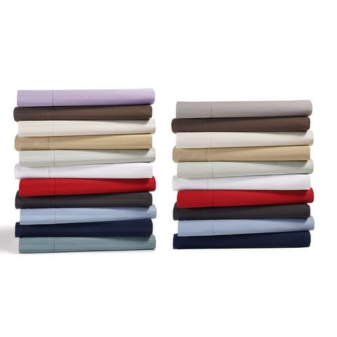 Luxury 500 Thread Count Pima Cotton Solid or Striped Bed Sheet Set