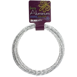 Aluminum Wire Diamond Cut 12 Gauge 12 Meter/Pkg (39.25')-Silver