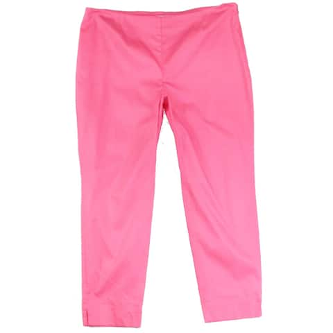 Charter Club Women's Pants Pink Size 16 Classic Fit Stretch Solid