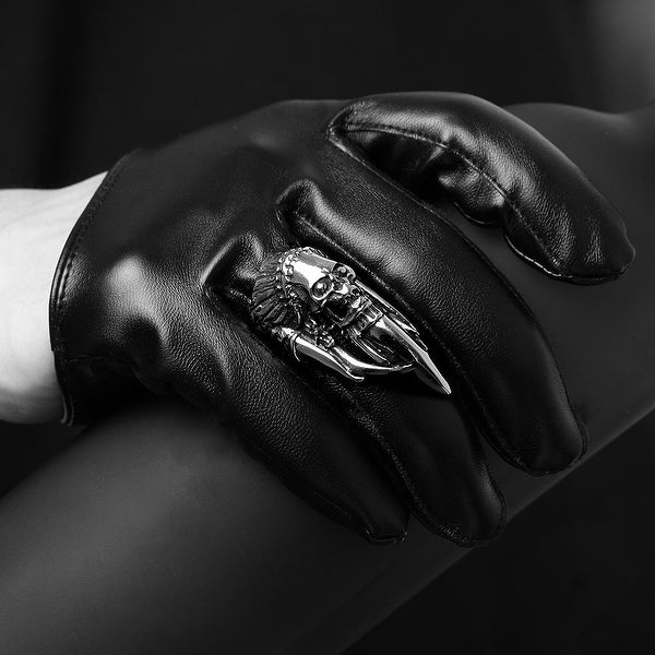 Vienna Jewelry Stainless Steel Skull Ring