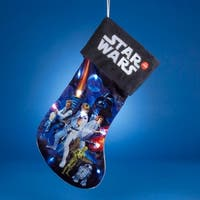 "19"" Star Wars Battery Operated Light-Up Christmas Stocking - BLue"