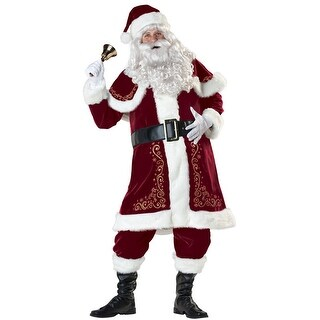 InCharacter Jolly Ole St. Nick Adult Costume - Red