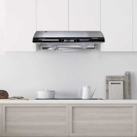 Hauslane C395 Under Cabinet Range Hood, Auto Clean, 6 Speeds, Incandescent, 3 Way Venting, Stainless Steel