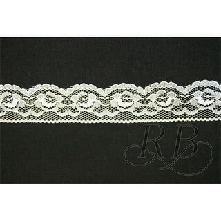 Ribbon Bazaar 8747 1.25 in. Flat Lace 2611, Ivory - 25 Yards